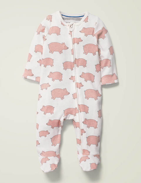 Printed Zip Sleepsuit