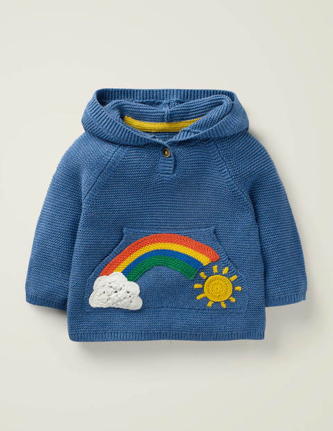 Rainbow Pocket Jumper - Dirty Denim Rainbow