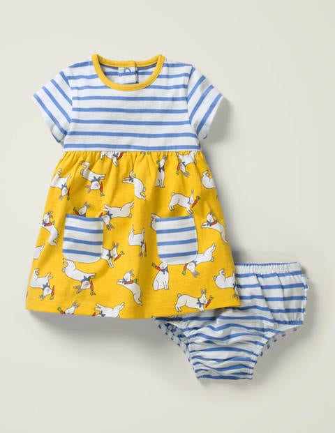 Hotchpotch Jersey Dress - Daffodil Baby Bunny Hop