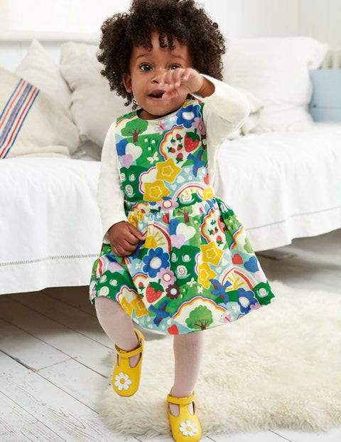 Printed Cord Dress Set - Multi Baby Springtime