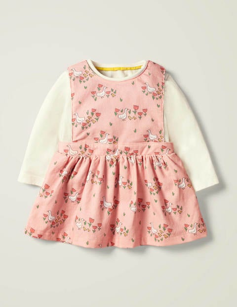 Printed Cord Dress Set - Boto Pink Duckling Meadow
