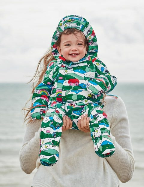 Waterproof Snowsuit - Multi Farm Stripe