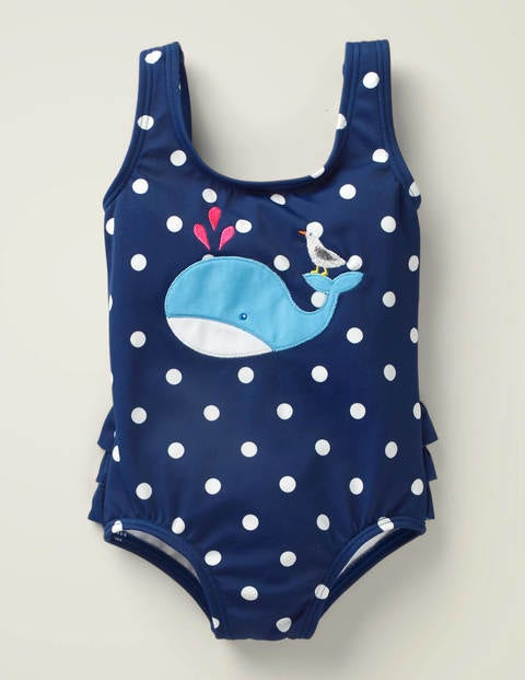 Ruffle Appliqué Swimsuit