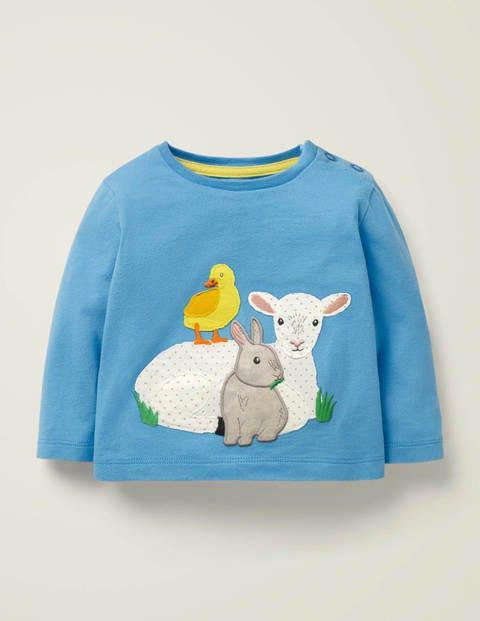 Animal Applique T-Shirt - Surfboard Blue