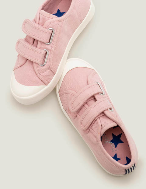 Double Strap Canvas Shoes - Boto Pink