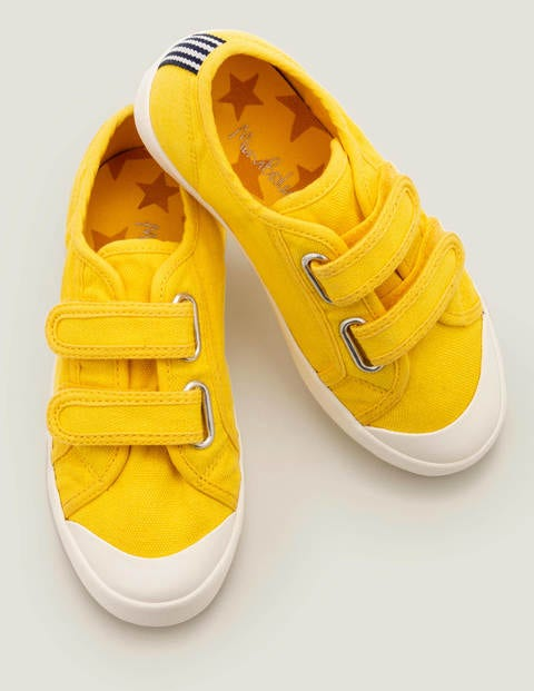 Double Strap Canvas Shoes - Daffodil Yellow