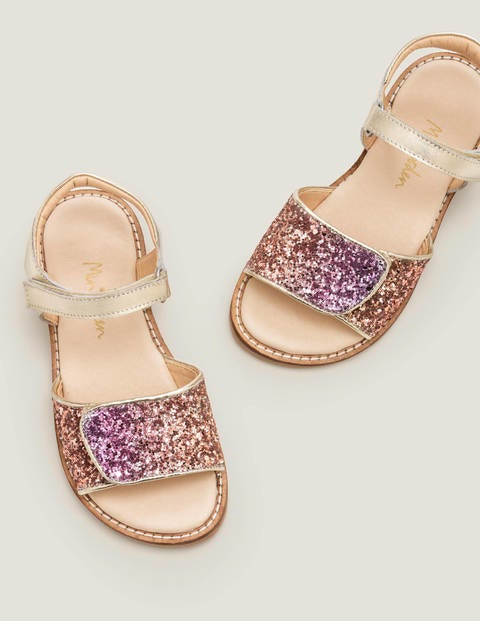 Leather Padded Sandals - Multi Glitter