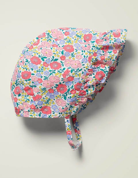 Woven Bonnet - Pink Flowerbed