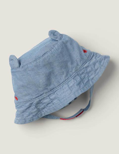 Denim Woven Hat - Denim Blue
