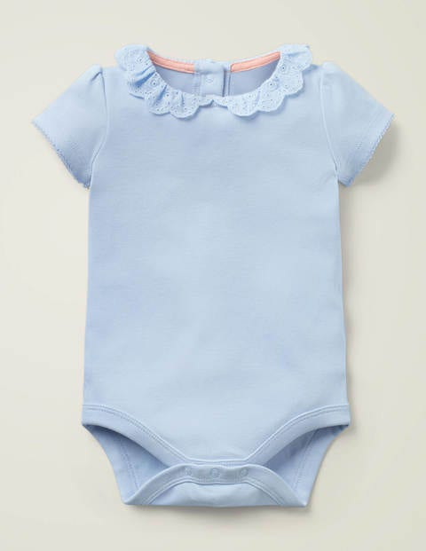Detailed Collared Bodysuit - Provence Blue