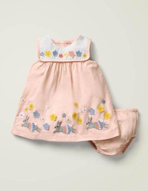 Flutter Appliqué Dress - Provence Dusty Pink
