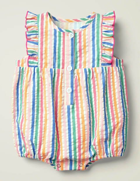 Frill Sleeve Romper - Multi Rainbow