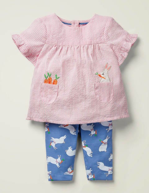 Woven Top and Legging Play Set - Seascape Blue Bunny Hop