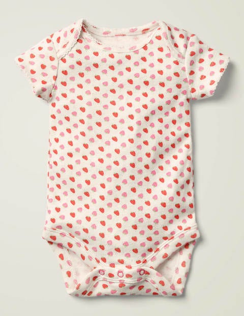 Printed Pointelle Body - Camelila Strawberry Ditsy