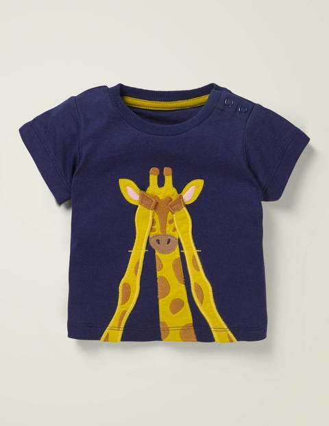 T-Shirt mit tierischer Safari-Applikation