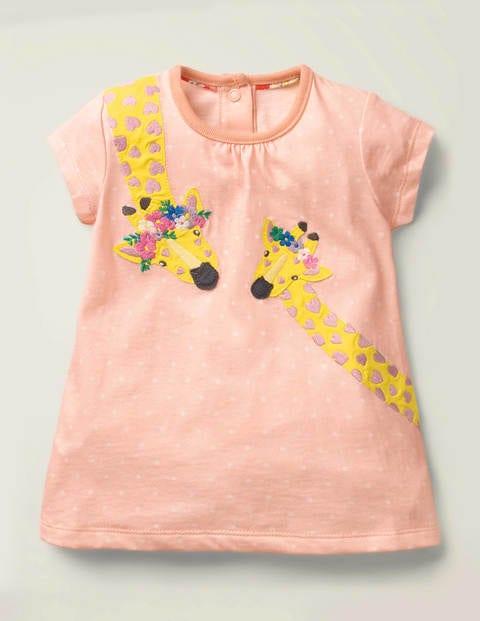 Big Appliqué Jersey Dress - Provence Dusty Pink Spot