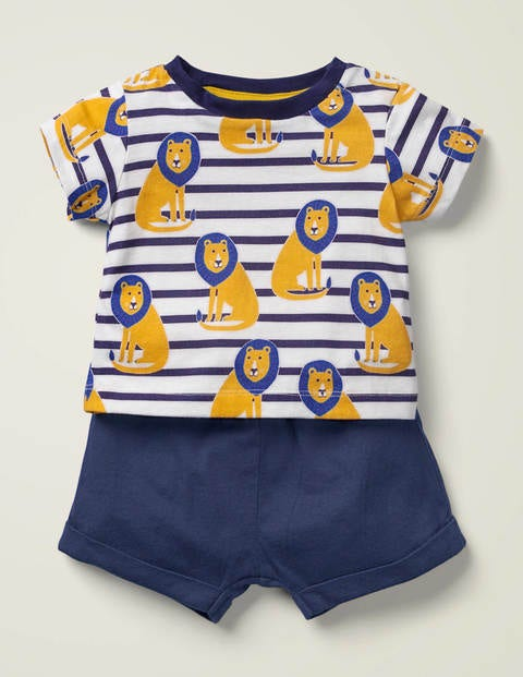 Printed Slub Jersey Play Set