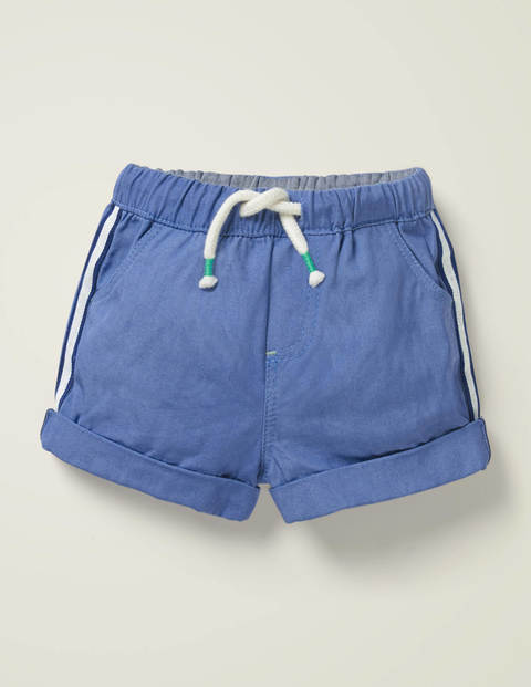 Woven Pull-on Shorts - Seascape Blue