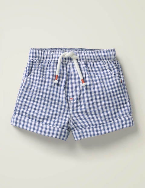 Gingham Woven Shorts - Seascape Blue Gingham