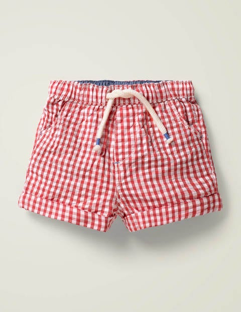 Gingham Woven Shorts - Cherry Tomato Gingham