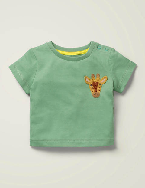 Crochet Animal T-Shirt - Frogs Leg Green Giraffe