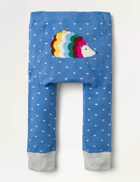Knitted Leggings - Elizabethan Blue Hedgehog