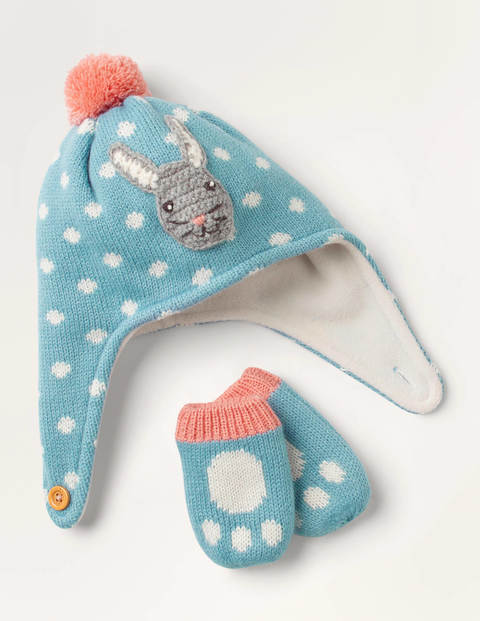 Baby Bunny Hat & Mittens Set