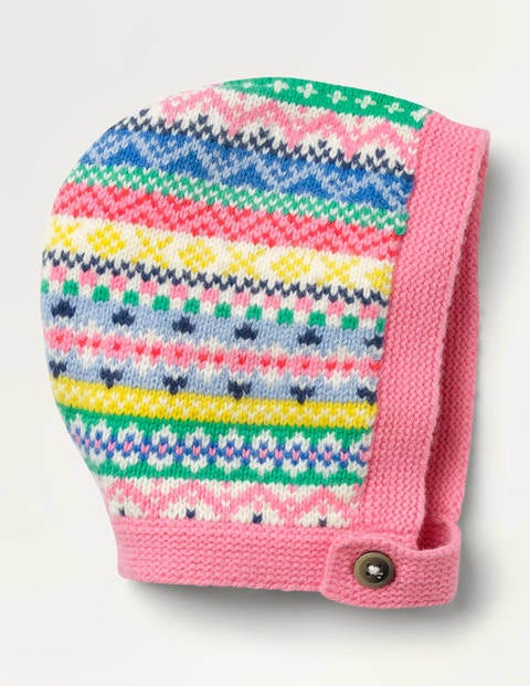 Fair Isle Knitted Bonnet