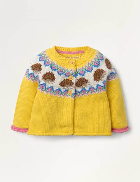 Fair Isle Cardigan - Honeycomb Yellow Fair Isle
