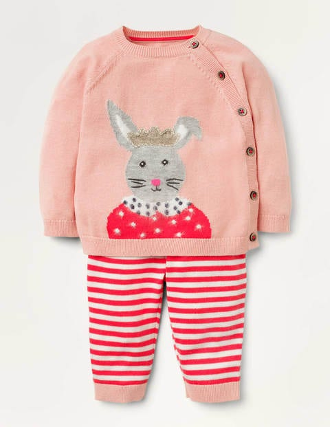Bunny Knitted Play Set - Boto Pink Bunny