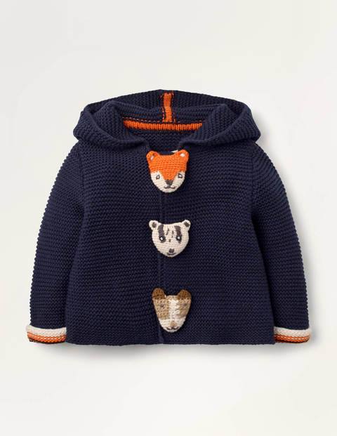 Animal Button Knitted Jacket