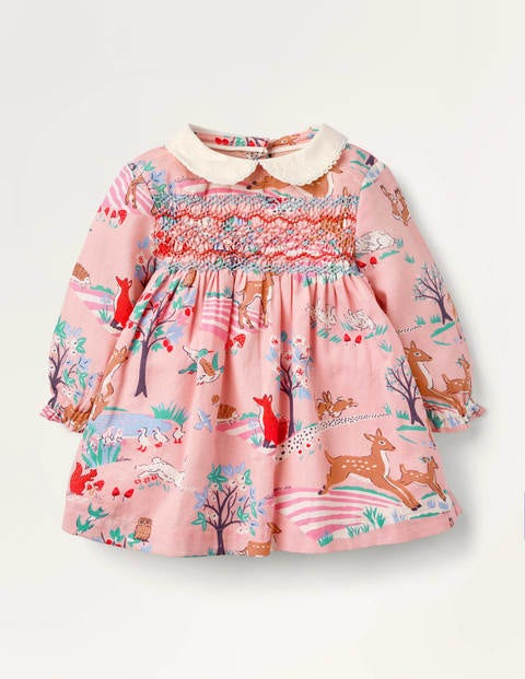 Woodland Scene Smocked Dress