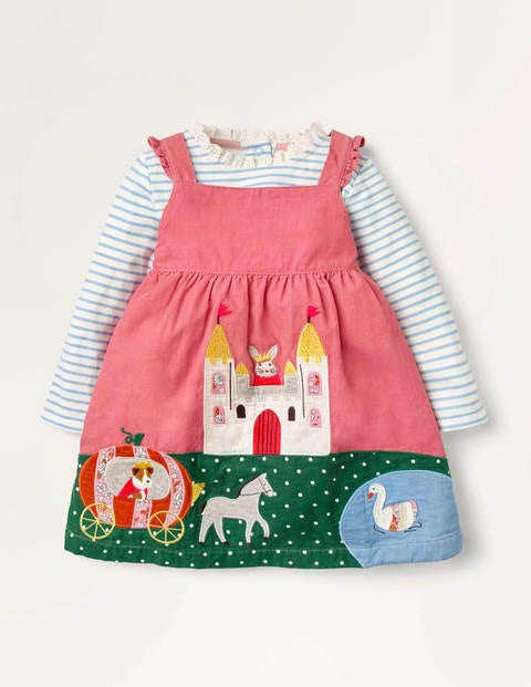 Pinny Kleid mit magischer Szene - Kirschblütenrosa, Schloss