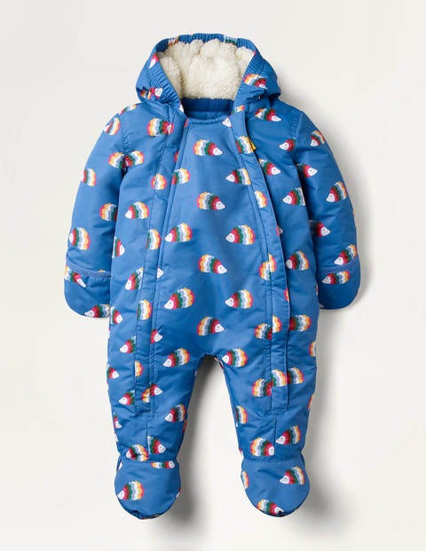 Waterproof Snowsuit - Elizabethan Blue Hedgehogs