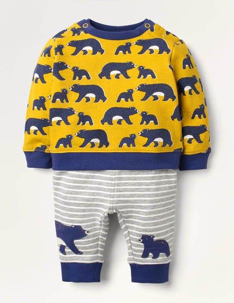 Cosy Sweatshirt & Bottom Set - Honeycomb Baby Bears