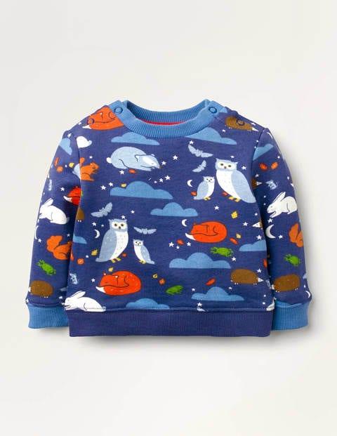 Gemütliches Sweatshirt - Segelblau, Freunde der Nacht