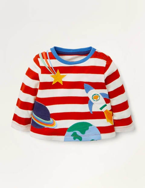 Stripy Appliqué T-shirt