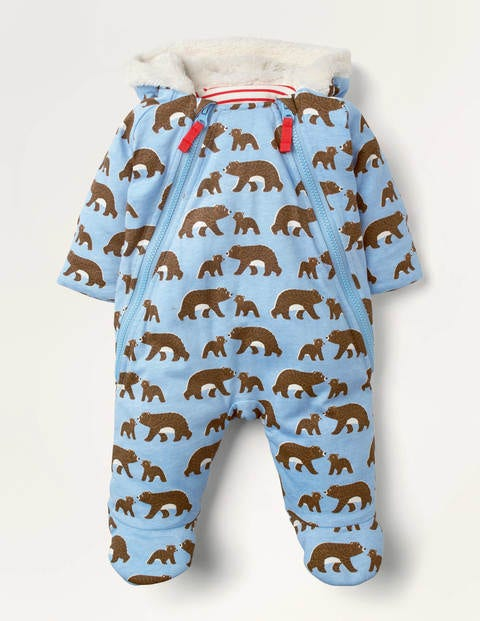 Cub Printed All-In-One - Frosted Blue Baby Bears