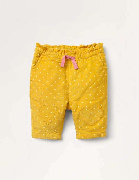 Spot Cord Pull-on Trousers - Honeycomb Yellow Pin Spot