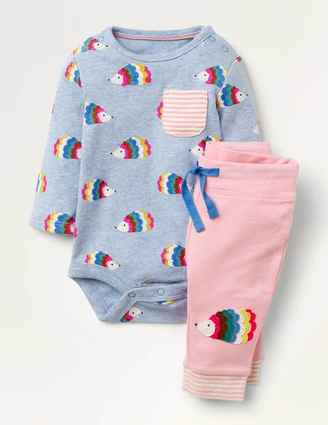 Hedgehog Body & Leggings Set - Blue Marl Hedgehogs