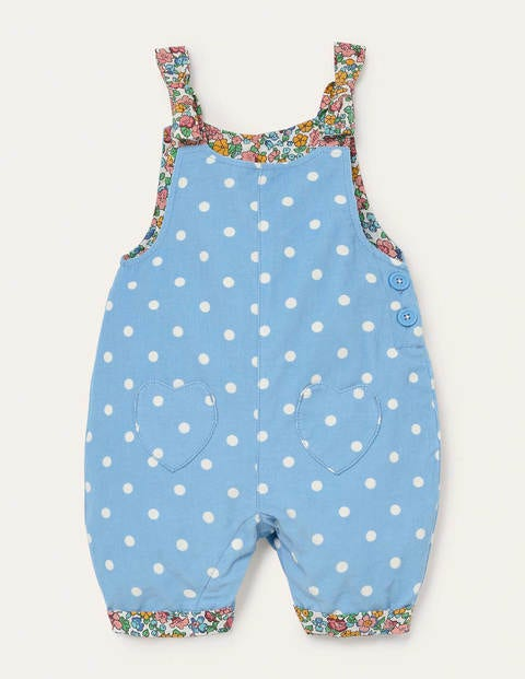 Cord Dungarees - Frosted Blue