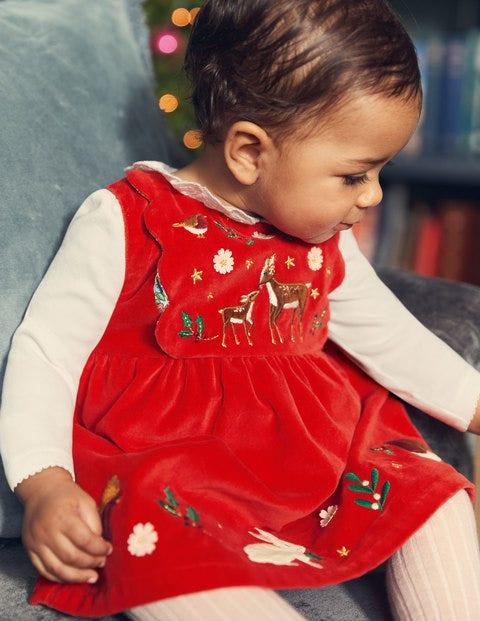 Christmas Velvet Dress - Rockabilly Red Velvet