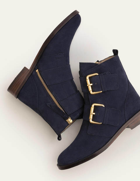 Vintage Boots, Retro Boots Cavenham Ankle Boots Navy Women Boden Navy £170.00 AT vintagedancer.com