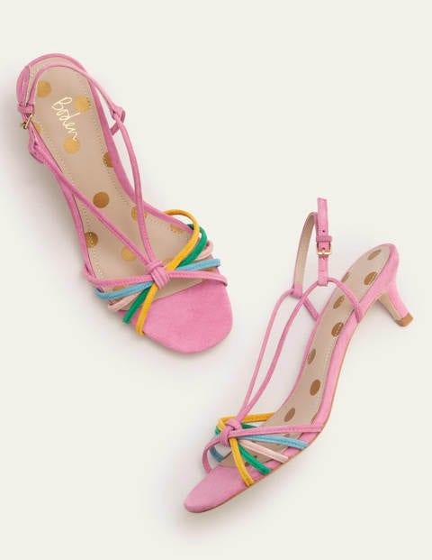 Tessa Kitten Heel Slingbacks - Plum Blossom Multi