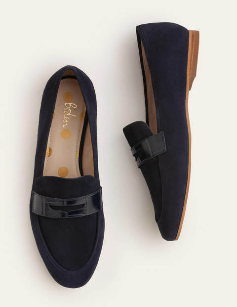 Faye Loafers - Navy/Croc