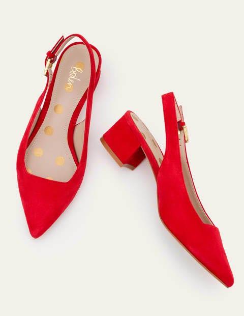 Nadine Slingback Heels - Red