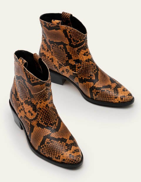 Bottines Allendale - Serpent camel