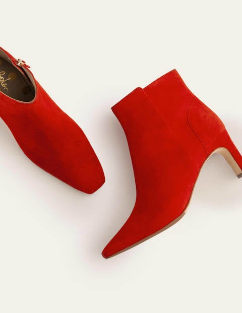 Malvern Ankle Boots - Red