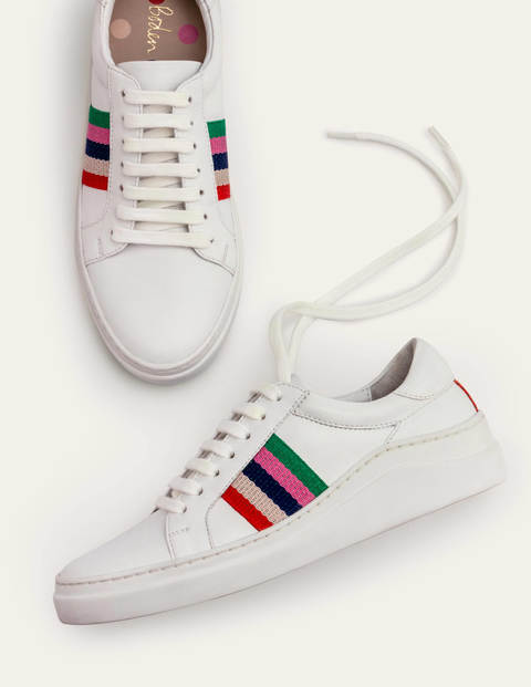 Maria Comfort Sneakers - White/Multi Stripe