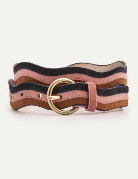 Wavy Edge Belt - Camel Multi